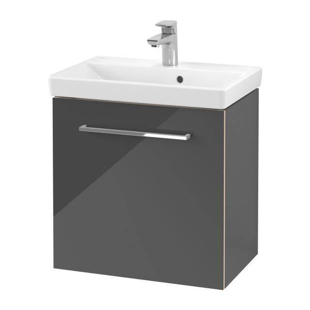 Villeroy & Boch Avento Waschtisch Compact mit Waschtischunterschrank mit 1 Tür Front crystal grey / Korpus crystal grey,WT weiß mit Ceramicplus