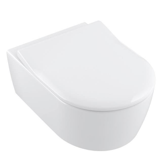 Villeroy & Boch Avento WC-Sitz Slim, abnehmbar mit Absenkautomatik