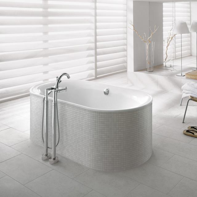 Villeroy & Boch Cetus Oval-Badewanne, Einbau weiß