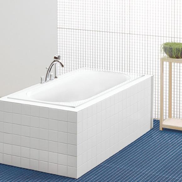 Villeroy & Boch Cetus Rechteck-Badewanne, Einbau weiß