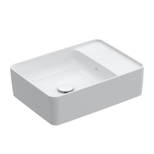 Villeroy & Boch Collaro Aufsatzwaschtisch weiß mit CeramicPlus, ohne Hahnloch