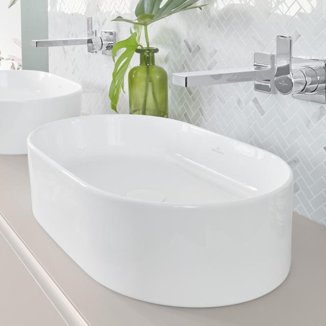 Villeroy & Boch Collaro Aufsatzwaschtisch weiß mit CeramicPlus