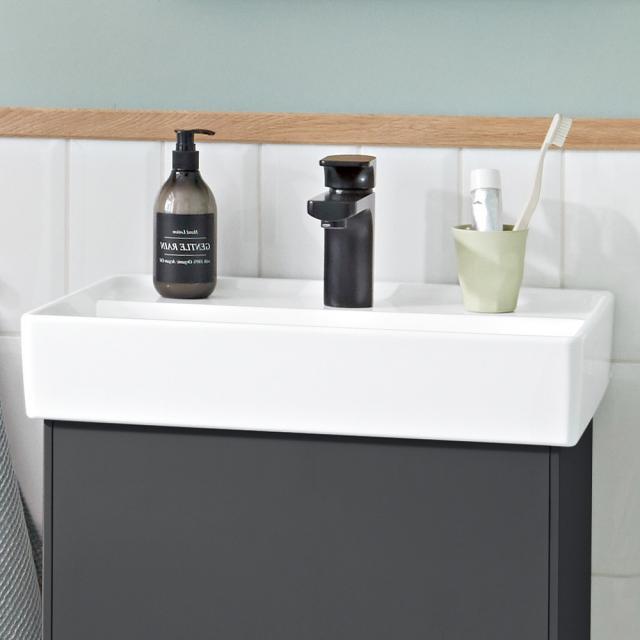 Villeroy & Boch Collaro Handwaschbecken weiß mit CeramicPlus, mit Überlauf, ungeschliffen