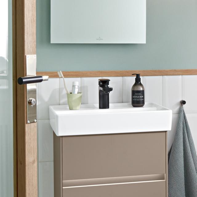 Villeroy & Boch Collaro Handwaschbecken stone white mit CeramicPlus, mit Überlauf, ungeschliffen
