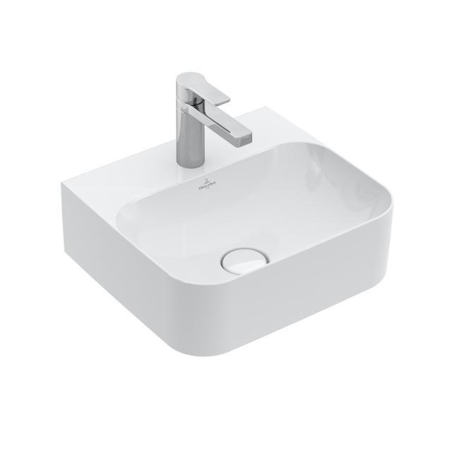 Villeroy & Boch Finion Handwaschbecken weiß mit CeramicPlus, geschliffen, mit verdecktem Überlauf