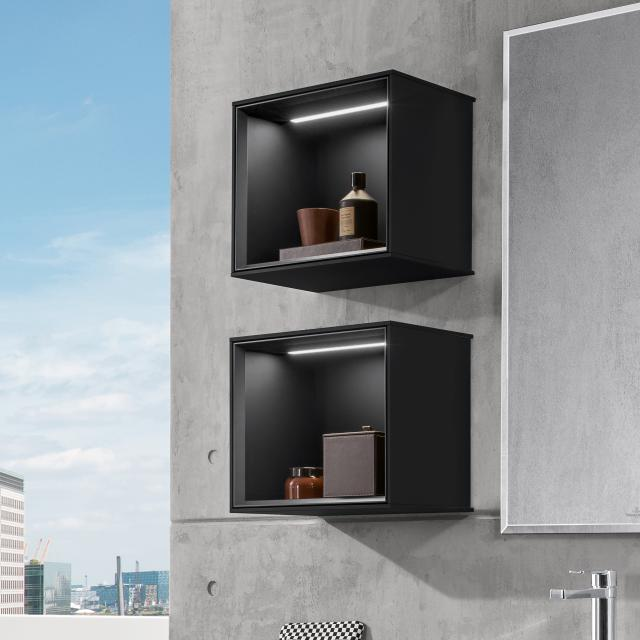 Villeroy & Boch Finion LED-Regalmodul black matt