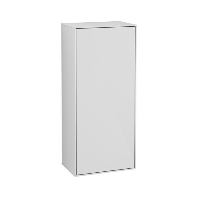 Villeroy & Boch Finion Seitenschrank mit 1 Tür Front glossy white / Korpus glossy white