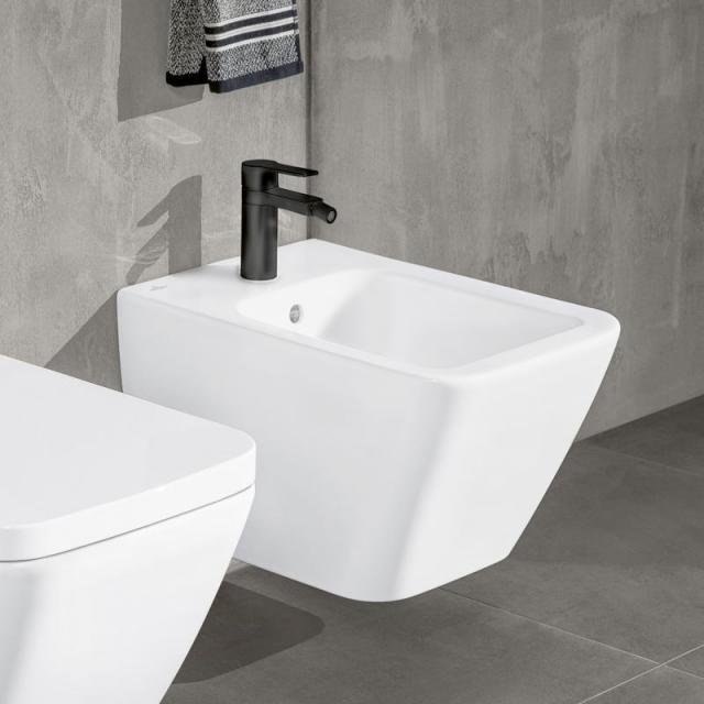 Villeroy & Boch Finion Wand-Bidet stone white, mit CeramicPlus