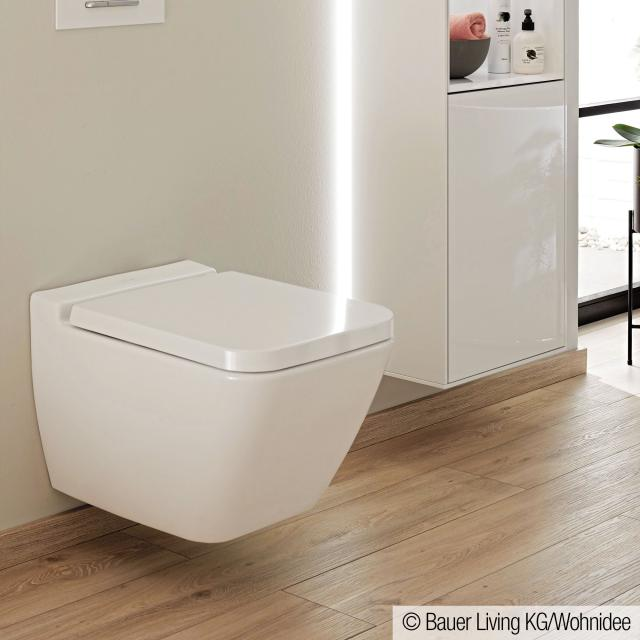 Villeroy & Boch Finion Wand-Tiefspül-WC, offener Spülrand, DirectFlush weiß, mit CeramicPlus