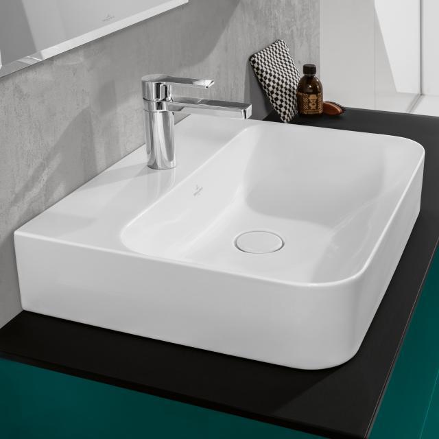 Villeroy & Boch Finion Waschtisch weiß mit CeramicPlus, ungeschliffen, ohne Überlauf