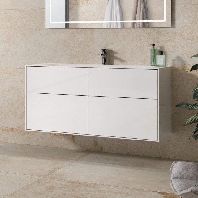 Villeroy & Boch Finion Waschtischunterschrank mit 4 Auszügen Front glossy white / Korpus glossy white
