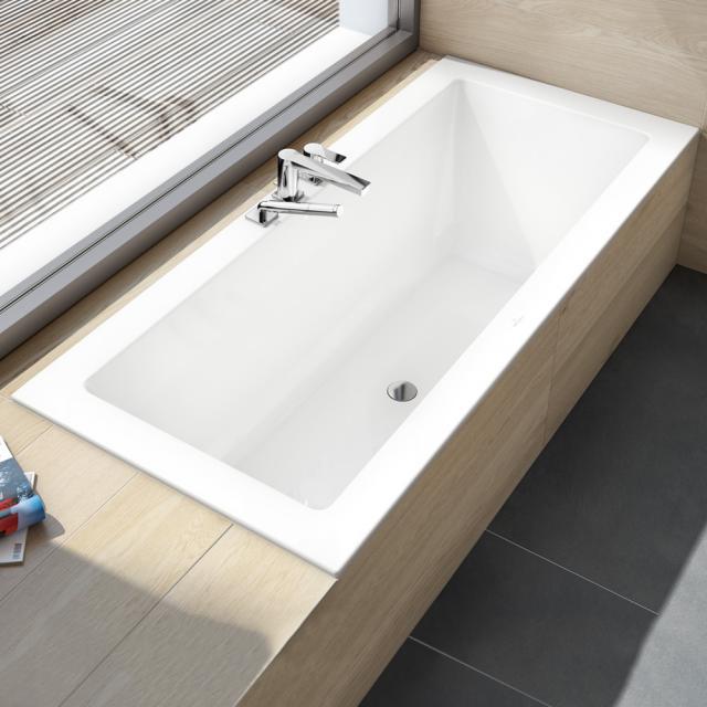 Villeroy & Boch Legato Duo Rechteck-Badewanne, Einbau weiß