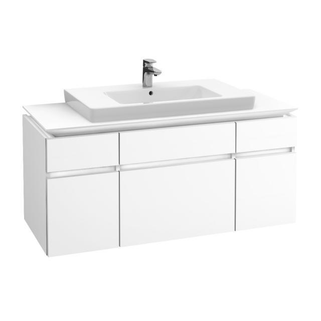 Villeroy & Boch Legato LED-Waschtischunterschrank mit 5 Auszügen Front weiß matt / Korpus weiß matt