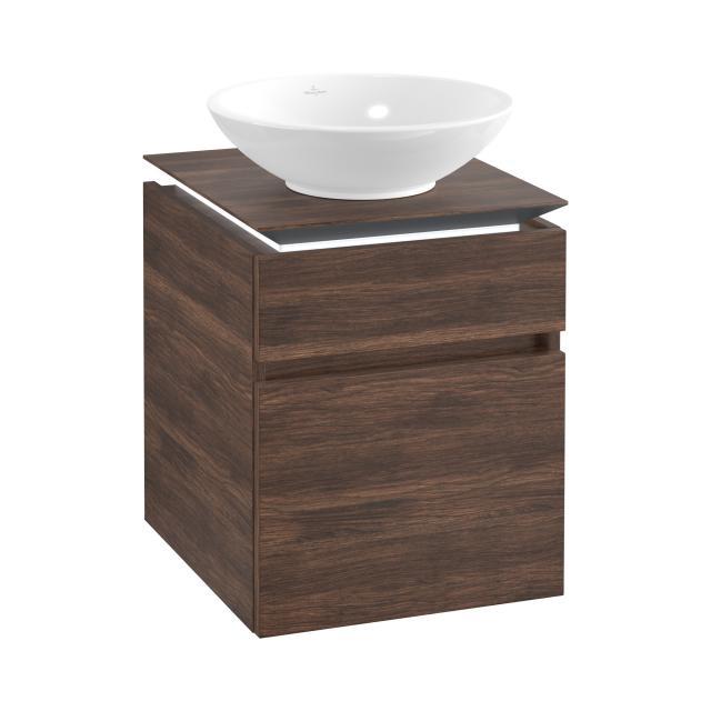 Villeroy & Boch Legato LED-Waschtischunterschrank für Aufsatzwaschtisch mit 2 Auszügen Front arizona oak / Korpus arizona oak