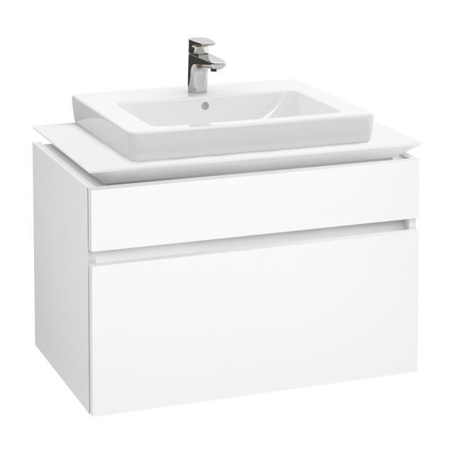Villeroy & Boch Legato Waschtischunterschrank mit 2 Auszügen Front weiß matt / Korpus weiß matt