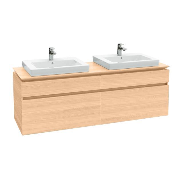 Villeroy & Boch Legato Waschtischunterschrank für 2 Einbauwaschtische mit 4 Auszügen Front ulme impresso / Korpus ulme impresso