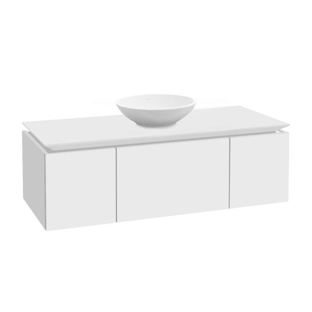 Villeroy & Boch Legato Waschtischunterschrank für Aufsatzwaschtisch mit 3 Auszügen Front weiß matt / Korpus weiß matt
