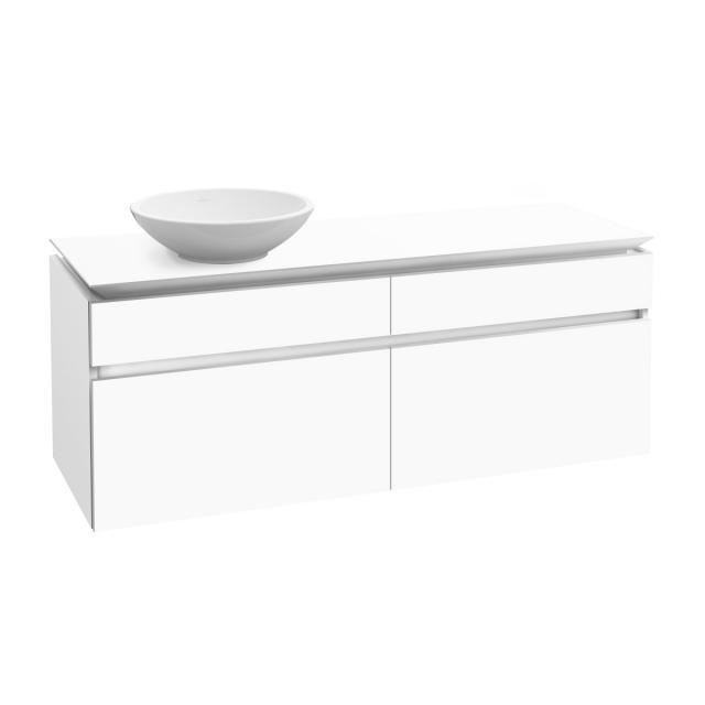 Villeroy & Boch Legato Waschtischunterschrank für Aufsatzwaschtisch mit 4 Auszügen Front weiß matt / Korpus weiß matt