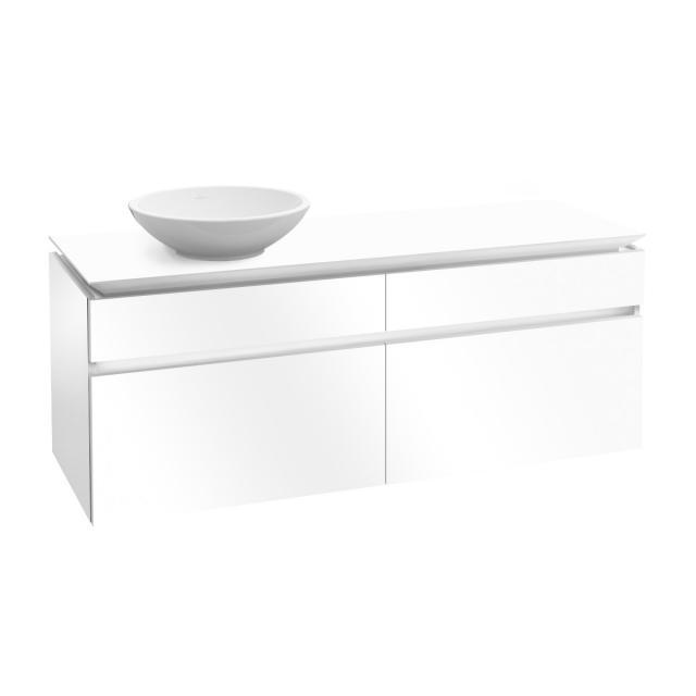 Villeroy & Boch Legato Waschtischunterschrank für Aufsatzwaschtisch mit 4 Auszügen Front glossy white / Korpus glossy white