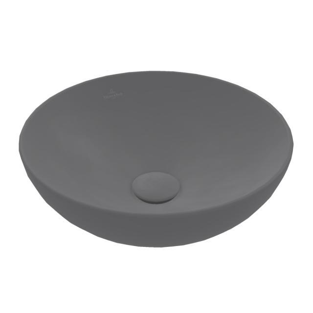 Villeroy & Boch Loop & Friends Aufsatzwaschtisch graphite, mit CeramicPlus, ohne Überlauf