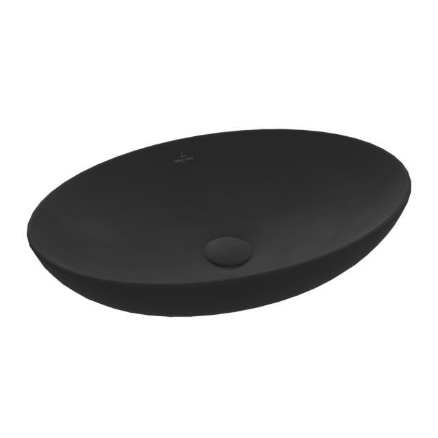 Villeroy & Boch Loop & Friends Aufsatzwaschtisch ebony, mit CeramicPlus, ohne Überlauf