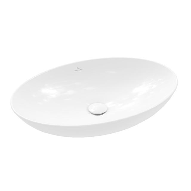 Villeroy & Boch Loop & Friends Aufsatzwaschtisch weiß, mit CeramicPlus, ohne Überlauf