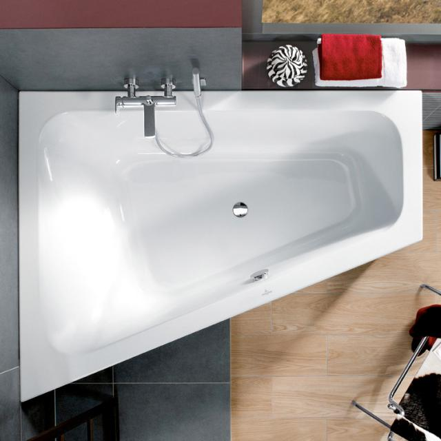 Villeroy & Boch Loop & Friends Eck-Badewanne, Einbau weiß