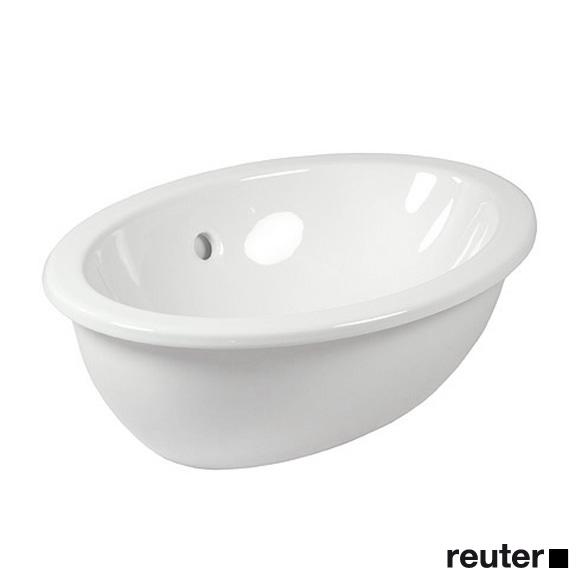Villeroy & Boch Loop & Friends Einbauwaschtisch, oval weiß mit CeramicPlus mit Überlauf
