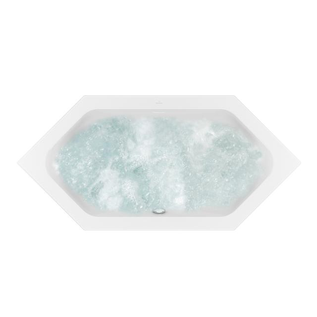 Villeroy & Boch Loop & Friends SQUARE Duo Sechseck-Whirlwanne weiß mit AirPool Entry