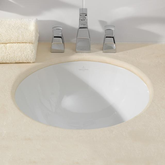 Villeroy & Boch Loop & Friends Unterbauwaschtisch, rund weiß ohne Überlauf