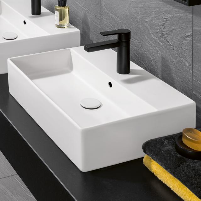 Villeroy & Boch Memento 2.0 Aufsatzwaschtisch stone white mit CeramicPlus, mit Überlauf