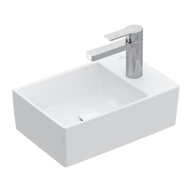 Villeroy & Boch Memento 2.0 Handwaschbecken weiß mit CeramicPlus, ungeschliffen