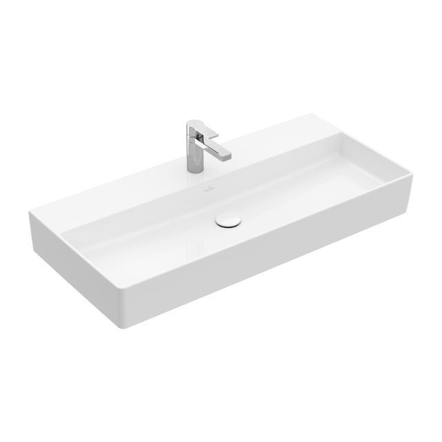 Villeroy & Boch Memento 2.0 Waschtisch weiß mit CeramicPlus, mit 1 Hahnloch, ohne Überlauf, ungeschliffen