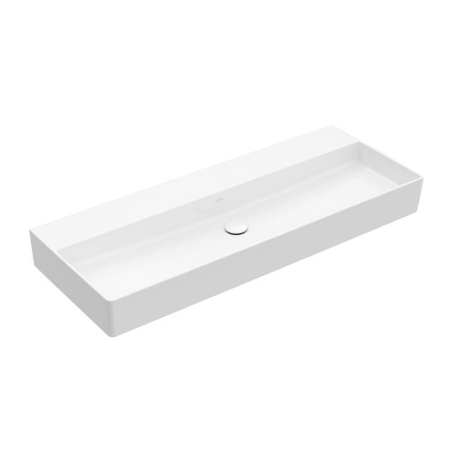 Villeroy & Boch Memento 2.0 Waschtisch weiß mit CeramicPlus, ohne Hahnloch, ohne Überlauf, geschliffen