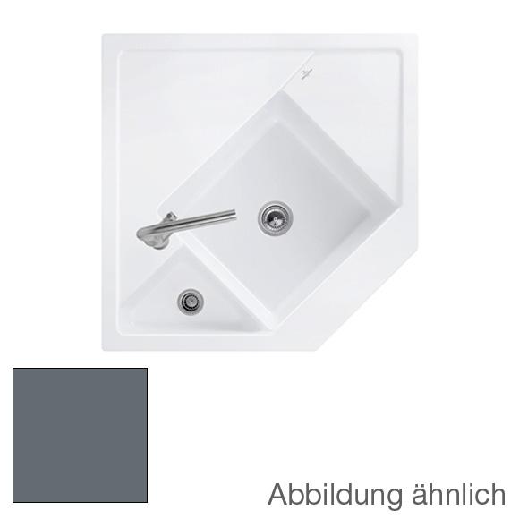 Villeroy & Boch Monumentum Spüle graphit/Position Lochbohrungen 2 und 1