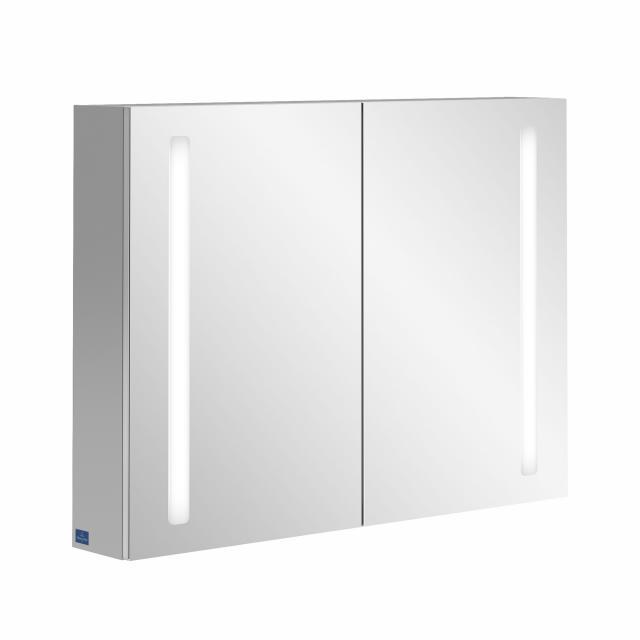 Villeroy & Boch My View 14+ Spiegelschrank mit LED-Beleuchtung inklusive Medizinbox mit 2 Türen