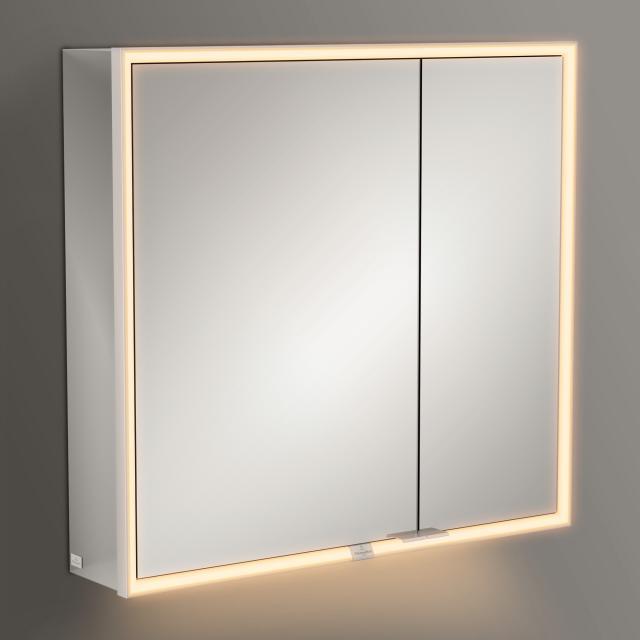 Villeroy & Boch My View Now Aufputz-Spiegelschrank mit LED-Beleuchtung mit 2 Türen mit Sensordimmer