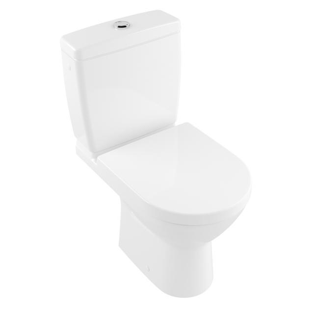 Villeroy & Boch O.novo Compact Stand-Tiefspül-WC für Kombination, offener Spülrand weiß, mit CeramicPlus