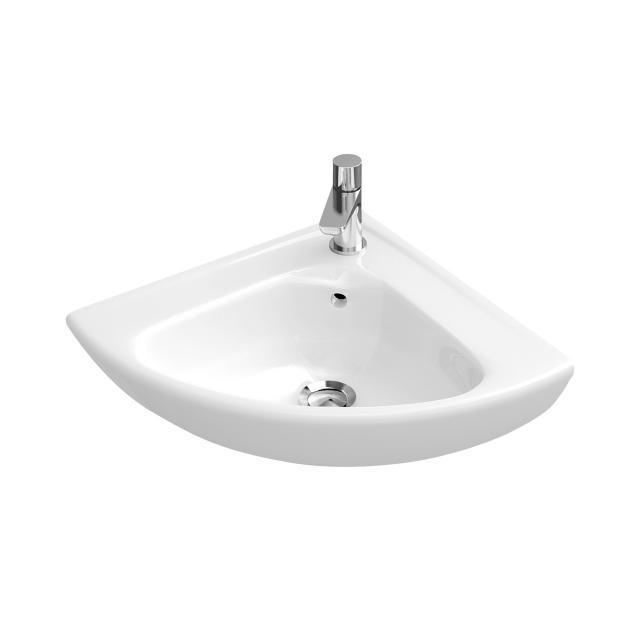 Villeroy & Boch O.novo Eck-Handwaschbecken weiß mit CeramicPlus