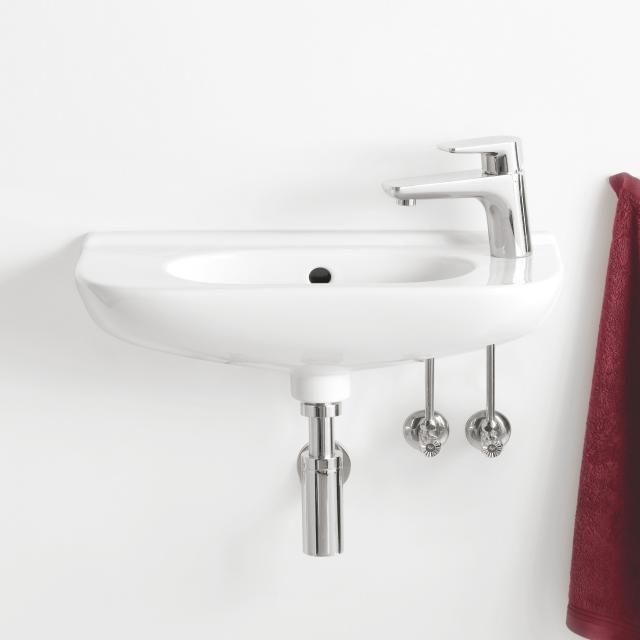 Villeroy & Boch O.novo Handwaschbecken Compact weiß, mit 1 Hahnloch, mit Überlauf