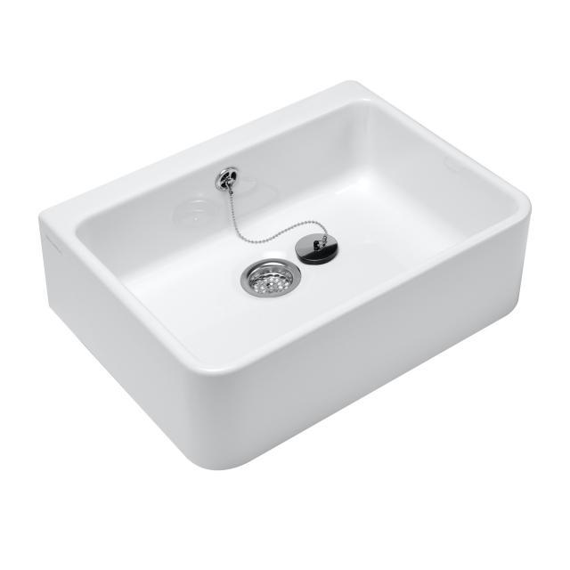 Villeroy & Boch O.novo Spülbecken mit Überlauf weiß mit CeramicPlus