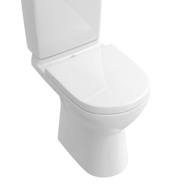 Villeroy & Boch O.novo Stand-Tiefspül-WC für Kombination ohne Spülrand, weiß, mit CeramicPlus