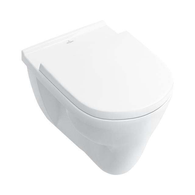 Villeroy & Boch O.novo Wand-Flachspül-WC weiß, mit CeramicPlus