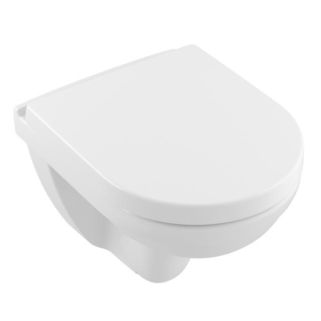 Villeroy & Boch O.novo Wand-Tiefspül-WC Compact ohne Spülrand, weiß, mit CeramicPlus
