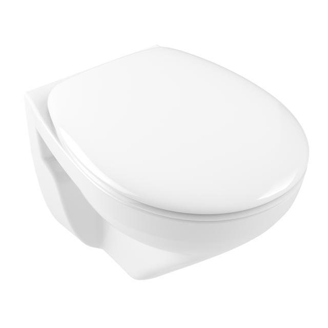 Villeroy & Boch O.novo Wand-Tiefspül-WC Compact, offener Spülrand, mit WC-Sitz