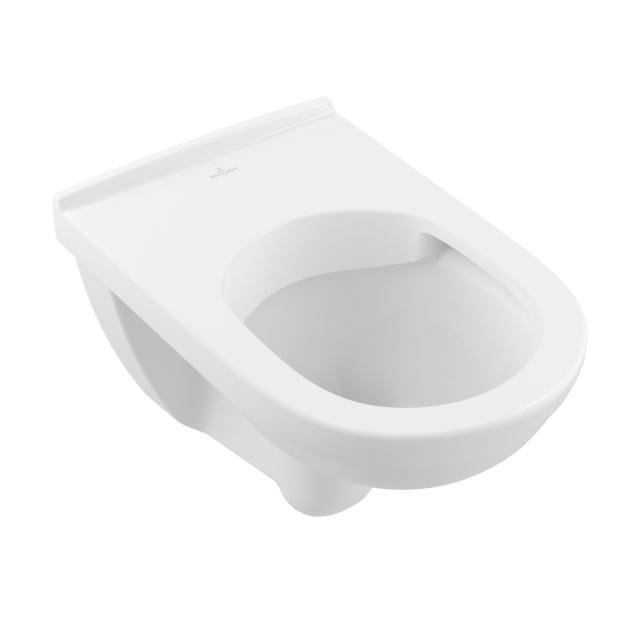 Villeroy & Boch O.novo Wand-Tiefspül-WC, offener Spülrand, DirectFlush weiß, mit CeramicPlus