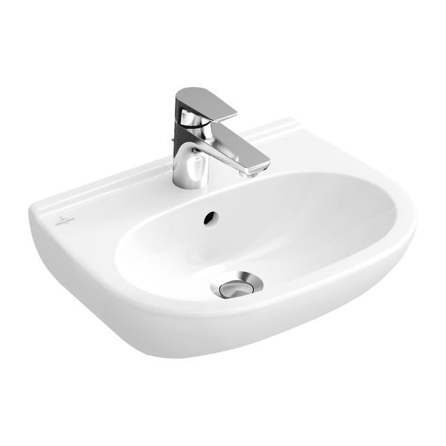 Villeroy & Boch O.novo Waschtisch Compact weiß mit CeramicPlus mit Überlauf