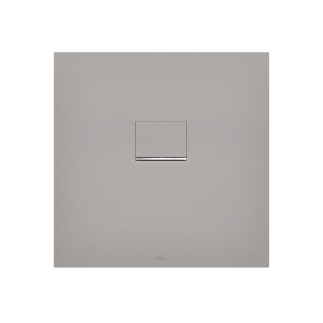 Villeroy & Boch Squaro Infinity Duschwanne für flächenbündigen Einbau grau matt