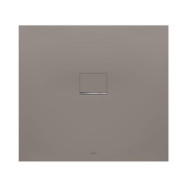 Villeroy & Boch Squaro Infinity Duschwanne für universal Einbau grau matt
