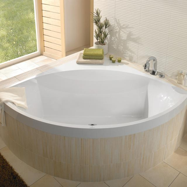 Villeroy & Boch Squaro Slim Line Eck-Badewanne, Einbau weiß